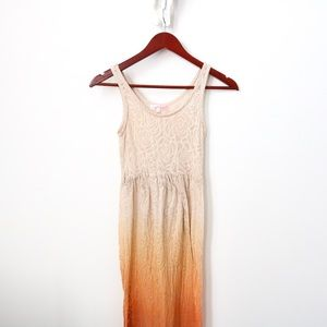 Dresses & Skirts - Ombré Cream & Orange Maxi Dress